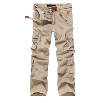 Multi Pockets Fashion Men?s Camouflage Cargo Casual Pants - Intl