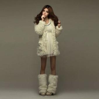 ZANZEA Women Cardigan Fleece Bear Hooded Fluffy Coat Outwear Long Jacket Trench Beige (Intl)