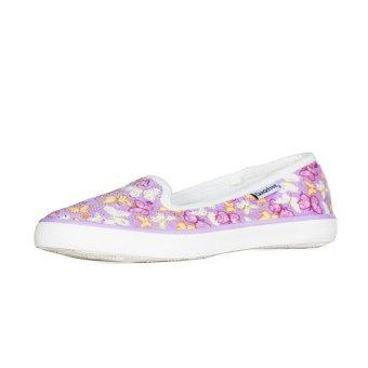 Giày búp bê nữ QuickFree Fashion B160101-001 (in nổi 3D Bướm Tím)