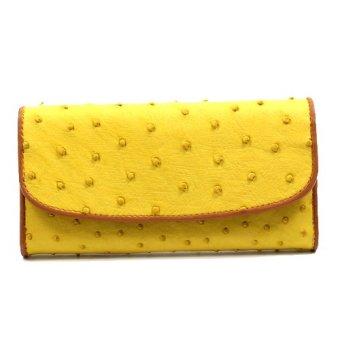Bóp nữ tuibopda.com đà điểu ba gấp VDD_044 ( vàng )