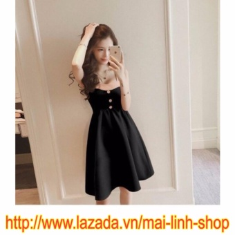 Đầm Xòe Hai Dây - ML222 (Đen)