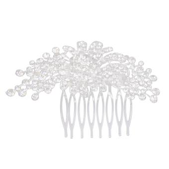 BolehDeals Elegant Bridesmaid Bridal Wedding Flower Rhinestone Crown Tiara Hair Comb - Intl