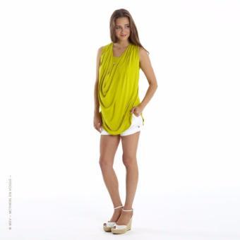 MEV Aó thun bầu cho con bú không tay Mothers En Vogue - Soft Drape - S - Chart Yellow