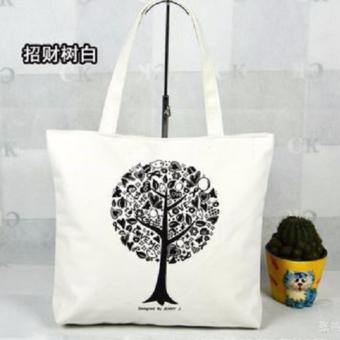 Túi Vải Tote Họa Tiết Cây Trắng Xinh Store