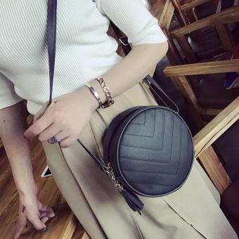 Women Fashion Handbag Tassel Shoulder Bag Large Tote Ladies Purse Hobo Bags BK - intl