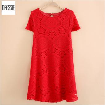Váy Đầm Dành Cho Người Béo Đẹp Thời Trang DRESSIE - KU0543B (Đỏ)