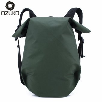 OZUKO 15 Inch Laptop Backpacks Men Backpack Casual Travel Bags Waterproof Oxford Sport Backpack Teenagers School Bag (Army Green) - intl