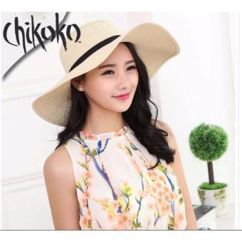 Nón vành rộng nơ xinh xắn CHIKOKO (Loại To-Màu sáng)