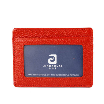 Mini Neutral Leather Wallet Orange