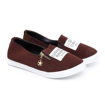 Giày bata phối khoá Sarisiu XS766 (Nâu)