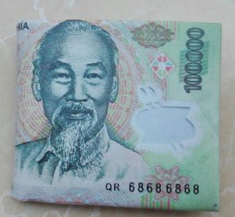 Ví da Nam hình tờ tiền 100 VNĐ