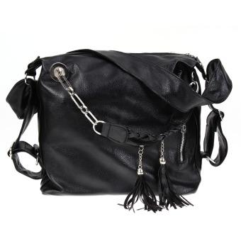 2016 women fashion shoulder bag handbag PU leather tassel bag - intl