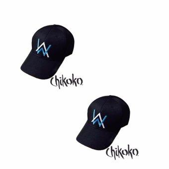 Combo 2 Nón nam thời trang thêu AW -CHIKOKO (Đen phối xanh)