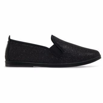 Giày Lười Flossy Oliva (Đen Nhung)