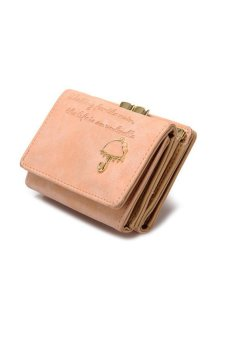 HKS Women Umbrella Leather Wallet Button Clutch Purse Girl Short Handbag Bag Pink - intl