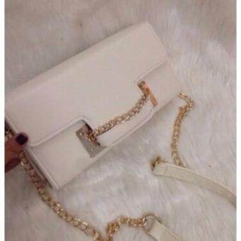 Túi clutch thời trang Hàn Quốc ( Trắng)