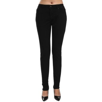 Cyber ANGVNS Fashion Women Casual Solid Long Jeans Skinny Denim Slim Jeans Pants - Intl