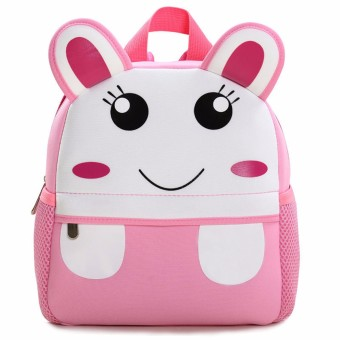 Toddler Kid Children Boy Girl 3D Cartoon Animal Backpack School Bag Rucksack HOT Bunny pattern NEW - intl