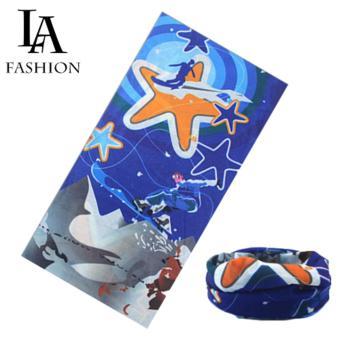 Khăn đa năng nam nữ thể thao dành cho phượt thủ - Chất liệu sợi siêu mịn polyester - Kích thước 25x48 cm (Hình sao)
