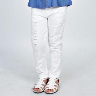 Quần Kaki dài bé trai Somy Kids 4-8T màu trắng