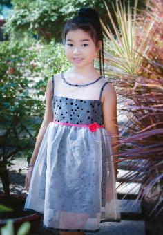 Đầm Ren Bi Genii Kids (Xám)