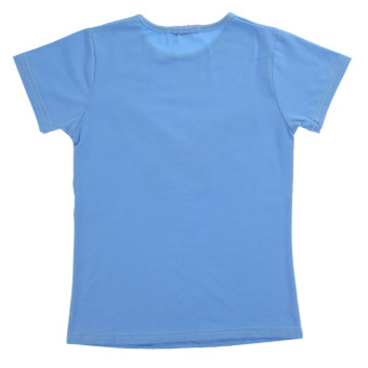 Girls Short Sleeve Top + Pants Blue (Intl)