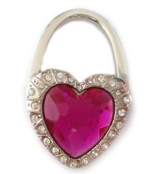 Móc treo túi xách hình trái tim đá (Hồng)