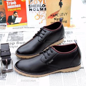 Giày da thật tăng chiều cao SMARTMEN GD2-05 (Đen)