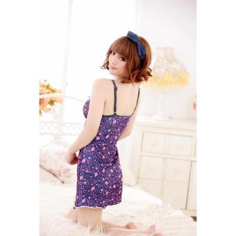 Váy Ngủ Sexy Tím Dây MS458 - màu tím