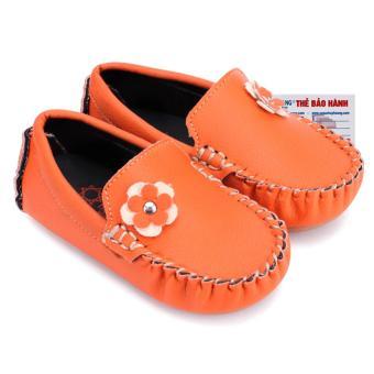 HL7851 - Giày KIDS Nữ Huy Hoàng màu cam phối hoa