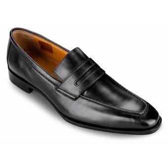 Giày Da Pierre Cardin Black Penny Loafer - PCMFWLA015