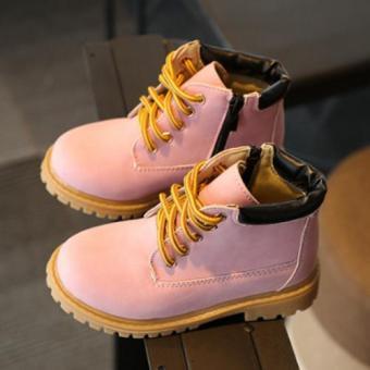 Giày bốt siêu nhẹ bé gái - GTE (Hồng)