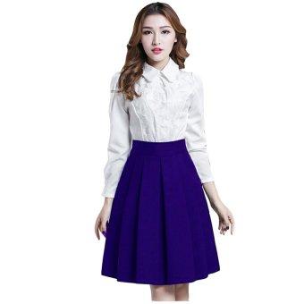 Chân váy xòe thời trang có 2 túi - V04116075 (Xanh)