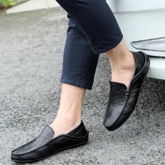 Giày Lười Nam Cao Cấp - Pettino GL01 (Đen)