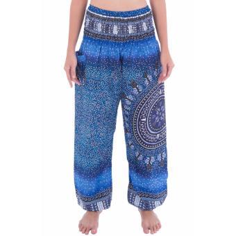 Quần ELECTRIC BLUE COMPASS HAREM PANTS màu xanh biển có túi size S
