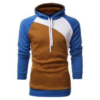 PODOM Mens Casual Jackets Sweatshirt Slim Fit Hoody Jacket Coat Zip Hoodie Top Camel - Intl