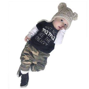 Toddler Lovely Baby Boy Letter Print Pattern Short Sleeve T-Shirt Blouse - intl