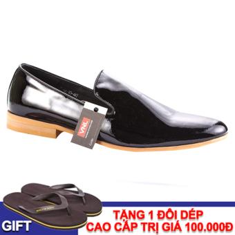 Giày tây nam da thật chính hãng Da Giày Việt Nam VNLMO60A10D (Đen)