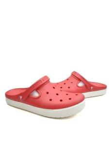 Giày lười nữ Crocs Unisex City Sneaks Slim Pepper White (Đỏ)