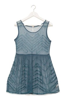 Free People Embellished Slip (Blue)