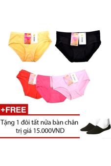 Bộ 5 quần lót nữ SociuStore 5DL NU 021 + Tặng 1 đôi tất nửa bàn chân