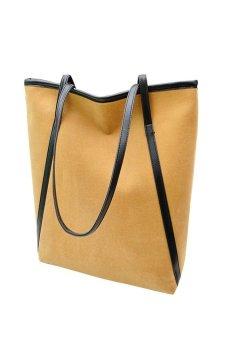 HKS Simple Winter Larger Capacity Leather Suede Women Bag Messenger Khaki - Intl - intl