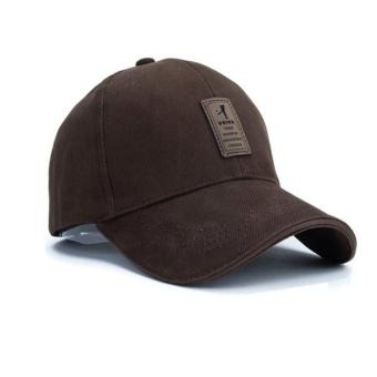 New 2016 Unisex Fashion Baseball Cap Sports Golf Snapback Outdoor Simple Solid Hats For Men Bone( Brown) - intl