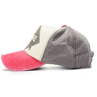 Unisex Letter Retro Curved Bill Solid Washed Cotton Baseball Caps Golf Ball Hats - Intl