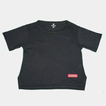 Áo thun trẻ em Antix cổ tròn màu đen