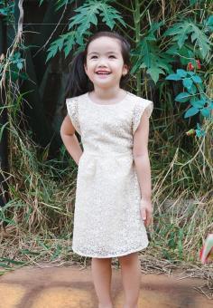 Đầm Ren Cánh Tiên Genii Kids (Kem)