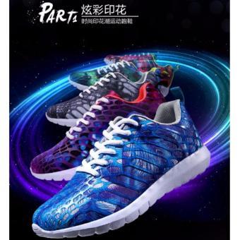 Giày thể thao huỳnh quang HQ màu xanh 37 -AL