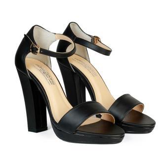 Giày Sandal Nữ Cao Gót 11 cm Đế Đúp HC1344 (Đen)