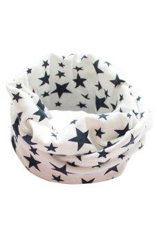 Bluelans Kids Boy Girl Stars Cotton Neckerchief Scarves Shawl Unisex Knitting White (Intl)