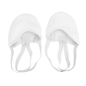 Canvas Leather Ballet Slipper Dance Soles Indoor Dance Shoes S White - Intl
